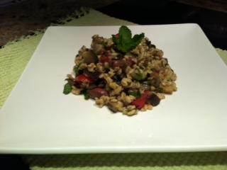 Eggplant & Barley Salad